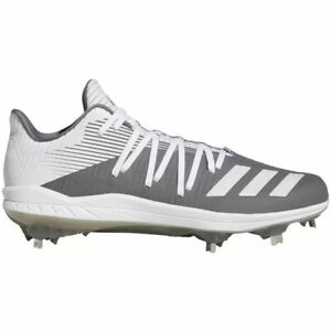 ADIDAS Afterburner 6 Men's Size 10.5 Baseball Cleats Shoes White Gray G27659 New