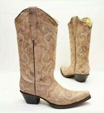 Corral Womens Distressed Brown/Chocolate Embroidery Western Boot E1004 Sz 6 Cowh