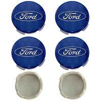4 x Ford Alloy Wheel Centre Cap Caps 54mm Hubs For Focus Fiesta KA Kuga -  Blue!
