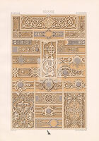 RUSSIAN Ornamental Border and Frame Art RACINET Original Art #A063