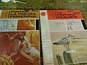 Lot of 2 Vintage EL ARTE DE PINTAR LA FIGURA FEMENINA,& LA PINTURA REALISTA