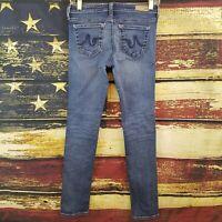 AG Adriano Goldschmied The Stilt Cigarette Leg Blue Jeans 25R - 25 x 29
