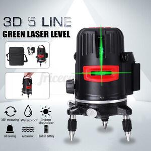 3D 5 Line Laser Level 360° Selbstnivellierend Wasserwaage Kreuzlaser Measure