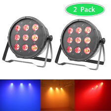 2 x LED DJ Par Lighting RGBW 4-In-1 DMX Color Mixing Stage Up Light Wash Effect