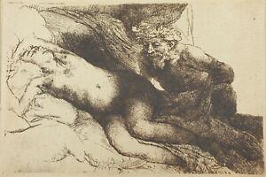 Rembrandt van Rijn, Jupiter and Antiope, Etching