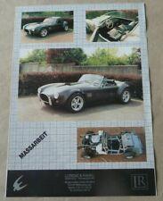 AC COBRA 427 KIT Classico Auto Lucas Tipo INTERRUTTORE a ginocchiera finestra su giù /& scheda Etichetta