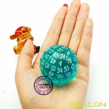 Bescon Translucent Polyhedral Dice 100 Sides Dice, D100 Game Dice of Teal
