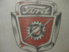 Ford Truck Shop Manual Supplement Vintage Car Automobile Motor Company 1954