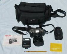 Pentax ZX-7 Camera Outfit Sigma & 500mm Mirror Lens Carry Bag W/Owners Manuals