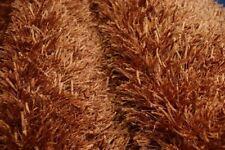 nr 126 Langflor Hochflor Teppich Shaggy 290 x 190 cm Neu Ziegel Viscose K-Seide