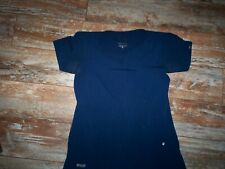WOMENS SIZE SMALL GRAY'S ANATOMY  SIGNATURE BLUE SCRUB TOP