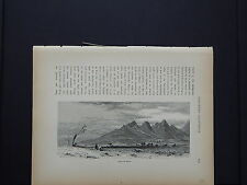 One In-Text Engraving, c 1872 S4#125 Marysville Buttes, California
