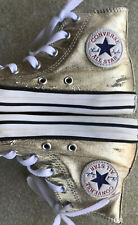 Converse Youth Size 13 Gold Used