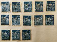 German Deutsches Reich 10M Stamp 1923, Blue Reapers