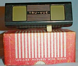 TRU-VUE VIEWER BLACK with WHITE LEVER w BOX & INSTRUCTIONS
