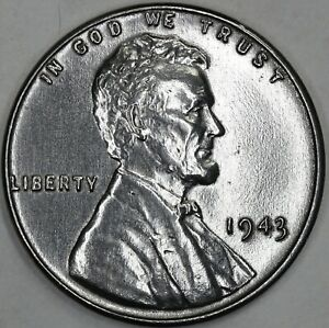 1943 Proof-Like Finish Steel Wheat Cent Gorgeous Steel Penny!
