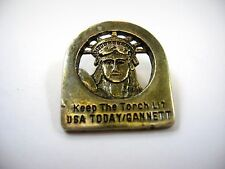 Vintage Collectible Pin: Keep the Torch Lit USA Today Gannett Statue of Liberty