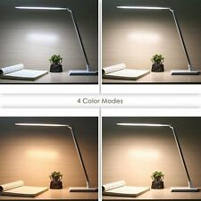 10W Silver LED Desk Lamp 4 Color modes, Dimmable Rotatable,Touch Control
