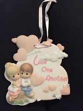 Precious Moments Love One Another Boy Girl Stamp Plaque 738735 Figurine Figure