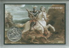 More details for st george and the dragon saint georges day england english crown coin gift set