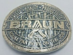 NOS CF Braun Constructors Safety Quality  Equal Partners Belt Buckle By ADM