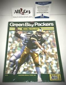1990 GREEN BAY PACKERS YEARBOOK #7 COVER AUTO SIGNED DON MAJKOWSKI w/ COA