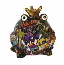 Pomme Pidou exklusive Spardose Frosch Graffiti WOW LOL Design II lila