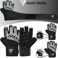 RDX Weight Lifting Gloves Gym Strength Training Fitness Workout Bodybuilding