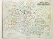 1 Orig.altkolor. Lithokarte 1825  EUROPA ASIEN
