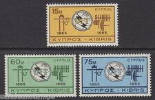 CYPRUS - 1965 I.T.U. Centenary (3v) - UM / MNH