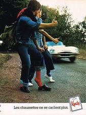 PUBLICITE ADVERTISING  1977   KINDY   chaussettes