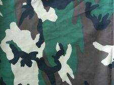GREEN OLIVE CAMOUFLAGE ARMY HUNT MILITARY WOODLAND SEW CRAFT PRINT FABRIC BTHY#