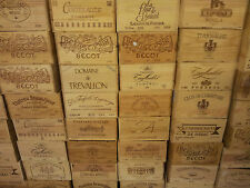 6 x GENUINE FRENCH WOODEN WINE CRATES BOXES  PLANTER HAMPER DRAWERS STORAGE.....