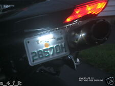 Ultra White Motorcycle LED Rear Number License Plate Bright Light FREE SHIP
