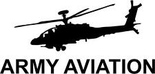 AH-64 Apache Helicopter Die-Cut Vinyl Sticker for a Car or Truck Window
