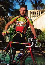 CYCLISME carte cycliste CHRISTOPHE DETILLOUX équipe LOTTO MOBISTAR 1998