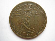 Belgium 1847 copper 5 Centimes GF EK's