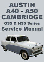 AUSTIN A40 & A50 CAMBRIDGE WORKSHOP MANUAL: 1954-1957