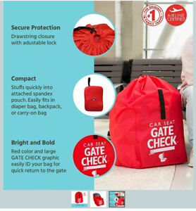 Childress Red Gate Check Air Travel Bag For Car Seats 34x18x18 New No Box