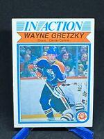 1982-83 O-PEE-CHEE OPC Wayne Gretzky In Action Card #107 EDMONTON OILERS