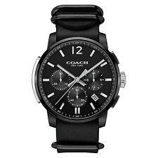 New Coach Men 42mm Black Ion Case BLEECKER Chronograph Watch 14602021 $295