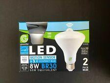 2 pack indoor/Outdoors  Motion Sensor flood led Light Bulb 65 watt BR 30