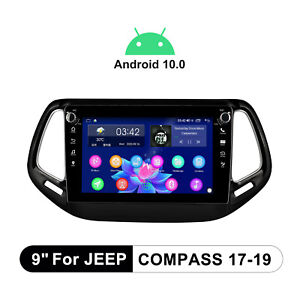 For Jeep Compass 2017-2019 Plug And Play 9 Inch Android 10.0 Stereo Built-In DSP