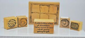 """Chocolate Box w/Chocolates and """"Life is Like a Box of Chocolates"""" Rubber Stamps"""