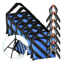 Neewer Studio 6-Pack Heavy Duty Sandbag (Blue/Black) with 6-Pack Spring Clamps