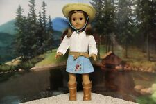 """American Girl Nicki """"Meet Outfit & Western Riding Hat"""" -COMPLETE - EUC (NO DOLL)"""