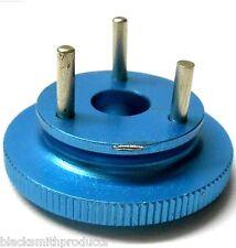 Rc Motor Nitro 3 Pin Zapatos Del Volante De Aluminio Azul 1/8