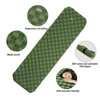 Outdoor Inflatable Single Mat Camping Sleeping Pad Mattress with Air Bag Pillow