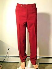 Vintage 1960's 1970's Higgins Men's Slacks Dracon polyester Deep red