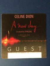 Celine Dion A New Day Has Come Las Vegas Tour Backstage Guest Pass